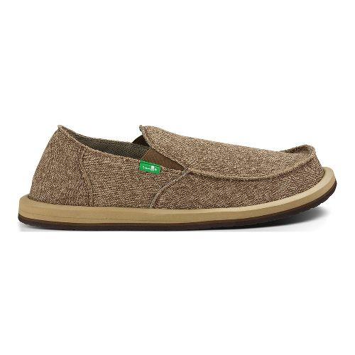 Mens Sanuk Vagabond Mesh Casual Shoe - Brown 13