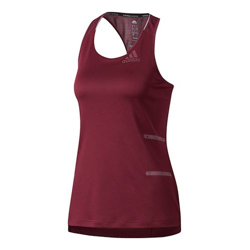 Womens Adidas Supernova 98.6 Degree F Sleeveless & Tank Tops Technical Tops - Maroon M