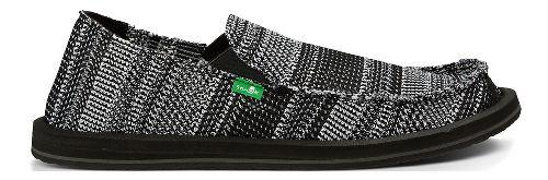 Mens Sanuk Yew-Knit Casual Shoe - Black/White 12