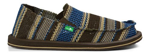 Mens Sanuk Yew-Knit Casual Shoe - Blue 10