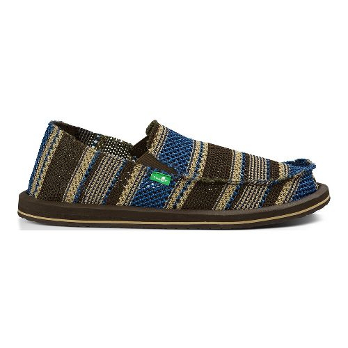Mens Sanuk Yew-Knit Casual Shoe - Blue 13