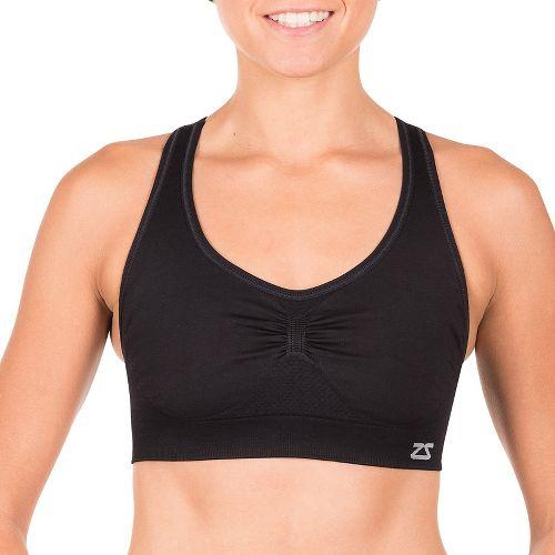 Womens Zensah Gazelle Sports Bras - Black M