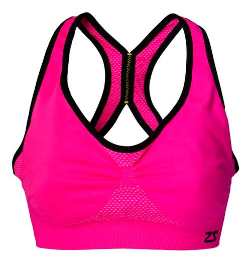 Womens Zensah Gazelle Sports Bras - Neon Pink M