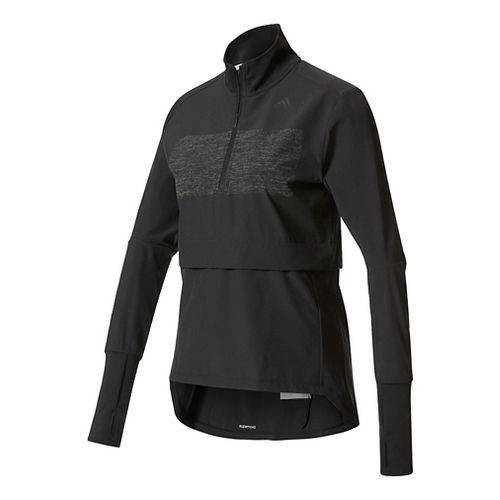 Womens Adidas Supernova Storm Half-Zips & Hoodies Technical Tops - Black L