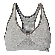 Womens Zensah Racey Sports Bras - Heather Silver S