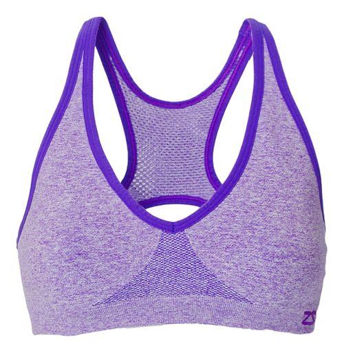 Womens Zensah Racey Sports Bras - Heather Purple S