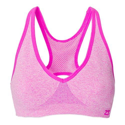 Womens Zensah Racey Sports Bras - Light/Pastel Pink S