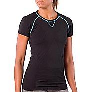 Womens Zensah Run Seamless Short Sleeve Technical Tops