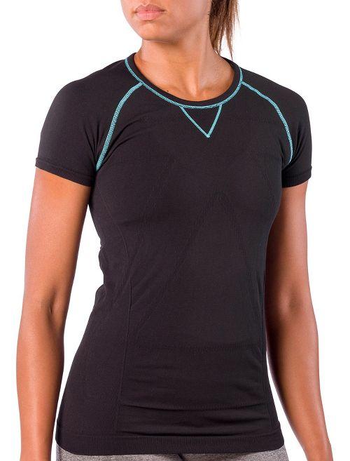 Womens Zensah Run Seamless Short Sleeve Technical Tops - Black S