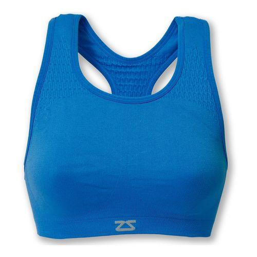 Womens Zensah Seamless Sports Bras - Blue M/L