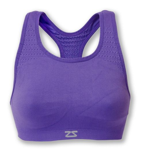 Womens Zensah Seamless Sports Bras - Purple S/M