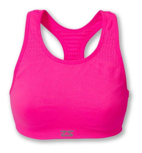 Womens Zensah Seamless Sports Bras - Neon Pink M/L