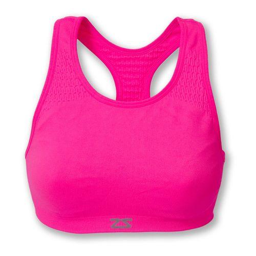 Womens Zensah Seamless Sports Bras - Neon Pink L/XL