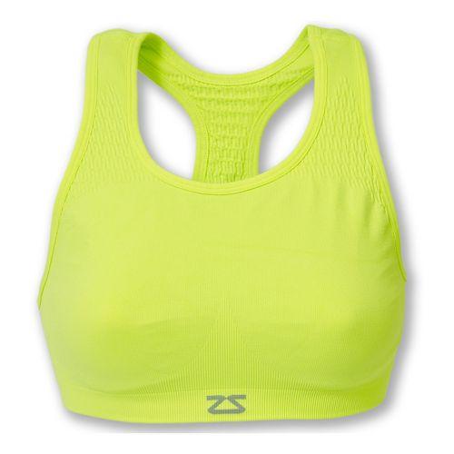 Womens Zensah Seamless Sports Bras - Neon Yellow L/XL