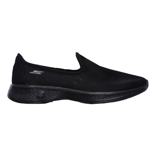 Womens Skechers GO Walk 4 Airy Casual Shoe - Black 10