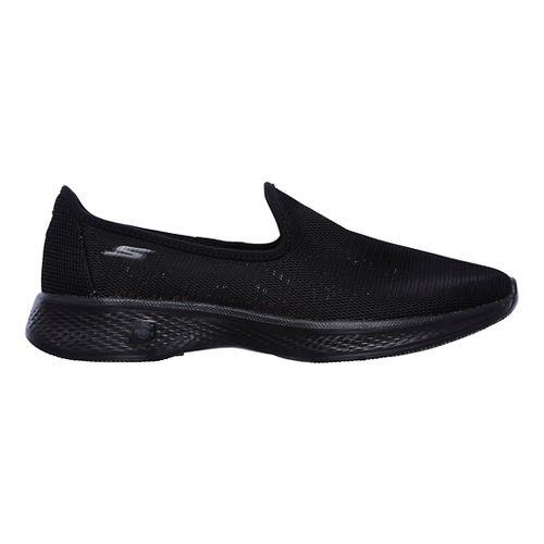 Womens Skechers GO Walk 4 Airy Casual Shoe - Black 6.5