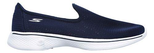 Womens Skechers GO Walk 4 Airy Casual Shoe - Navy/White 11