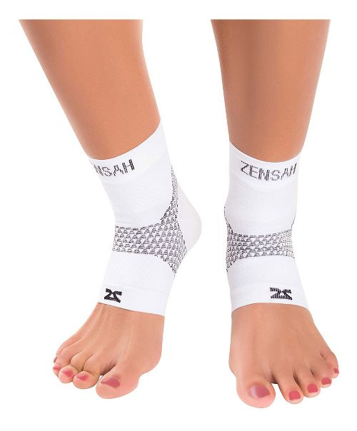 Zensah PF Compression Sleeves (Pair) Injury Recovery - White L