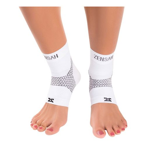 Zensah PF Compression Sleeves (Pair) Injury Recovery - White M