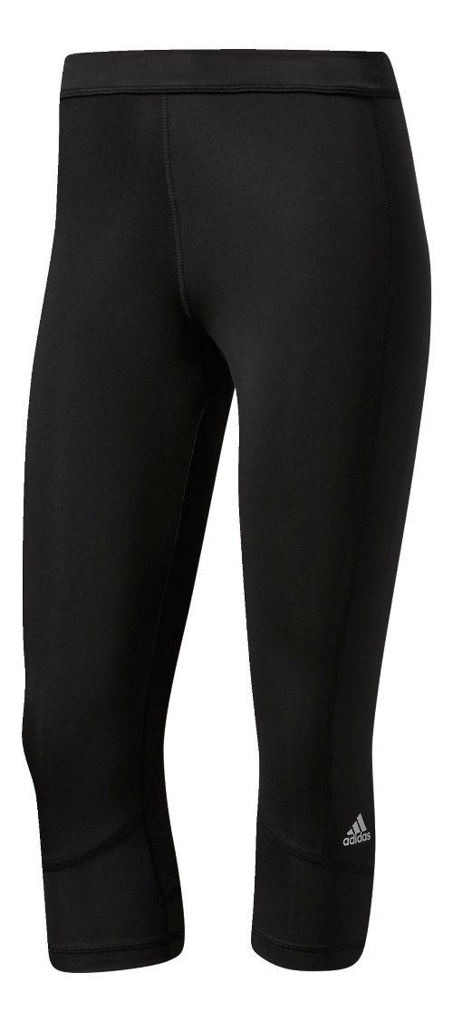 Womens Adidas Techfit Capri Compression Tights - Black L