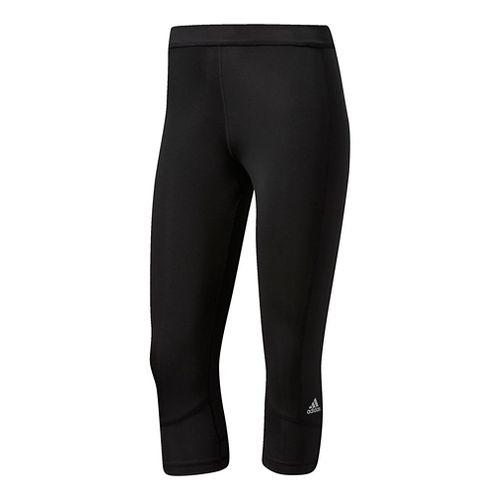 Womens Adidas Techfit Capri Compression Tights - Black XL