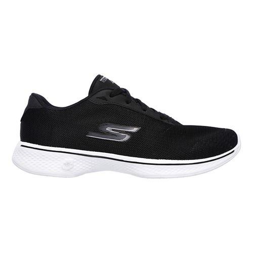 Womens Skechers GO Walk 4 - Brisk Casual Shoe - Black/White 11