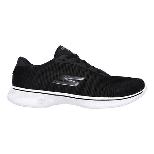 Womens Skechers GO Walk 4 - Brisk Casual Shoe - Black/White 6.5