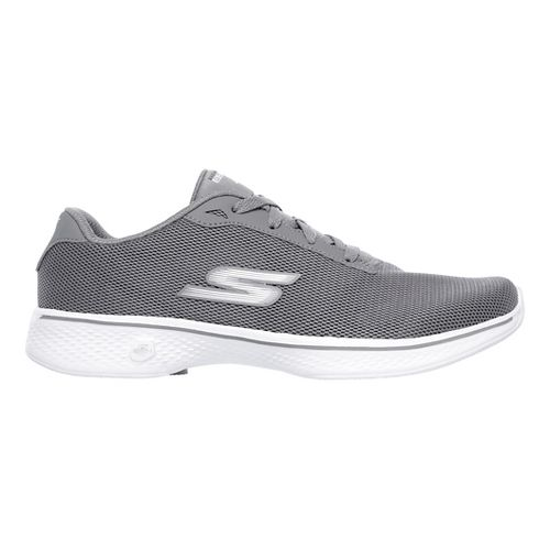 Womens Skechers GO Walk 4 - Brisk Casual Shoe - Grey 12