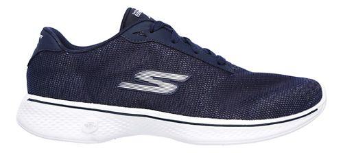 Womens Skechers GO Walk 4 - Brisk Casual Shoe - Navy/White 7