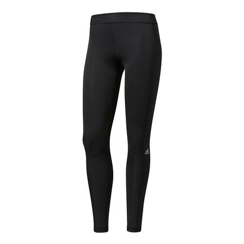 Womens Adidas Techfit Long Compression Tights - Black XXL