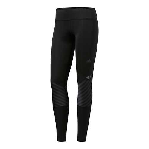 Womens Adidas Tokyo Long Cold Weather Tights - Black XL