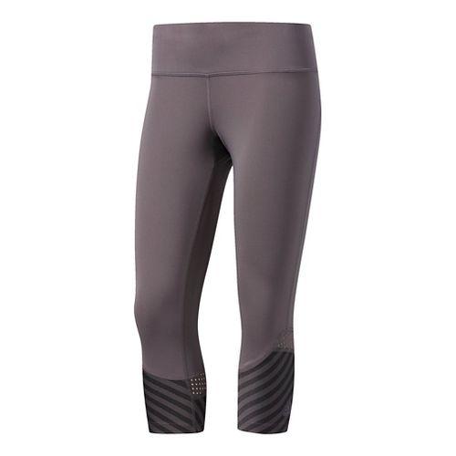 Womens Adidas Tokyo Reversible 3/4 Crop Tights - Grey L