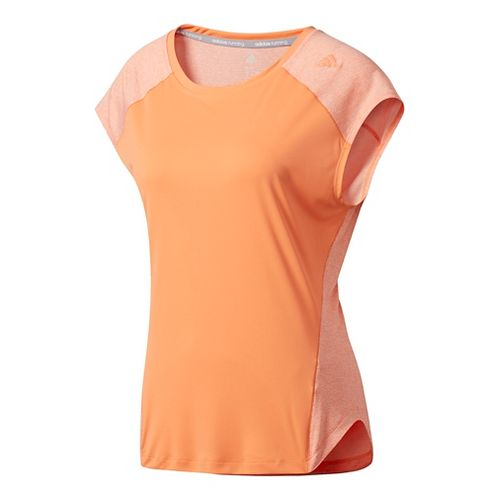 Womens Adidas Tokyo Short Sleeve Technical Tops - Orange S