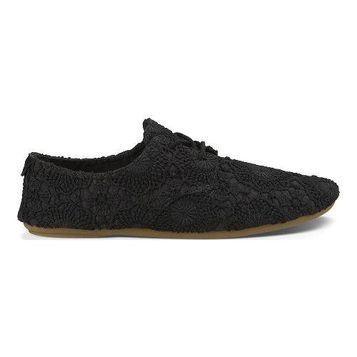 Womens Sanuk Bianca Crochet Casual Shoe - Black/Black 11