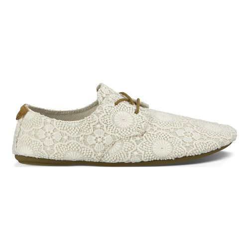 Womens Sanuk Bianca Crochet Casual Shoe - White/Oatmeal 10
