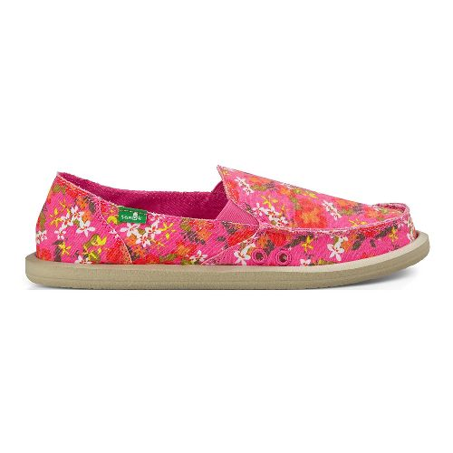 Womens Sanuk Donna Aloha Casual Shoe - Pink Floral 10
