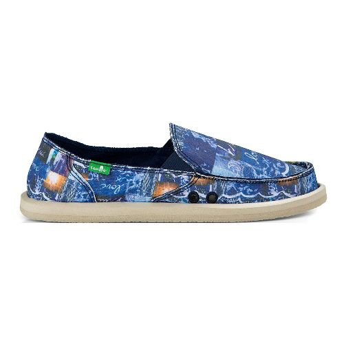 Womens Sanuk Donna Blue Love Casual Shoe - Blue Love 11
