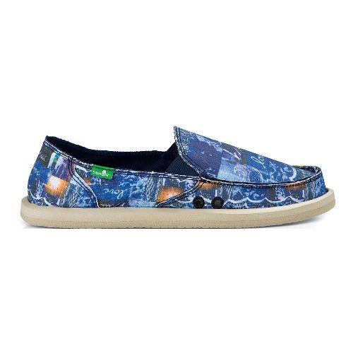 Womens Sanuk Donna Blue Love Casual Shoe - Blue Love 7