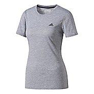 Womens adidas Ultimate Tee Short Sleeve Technical Tops - Grey L