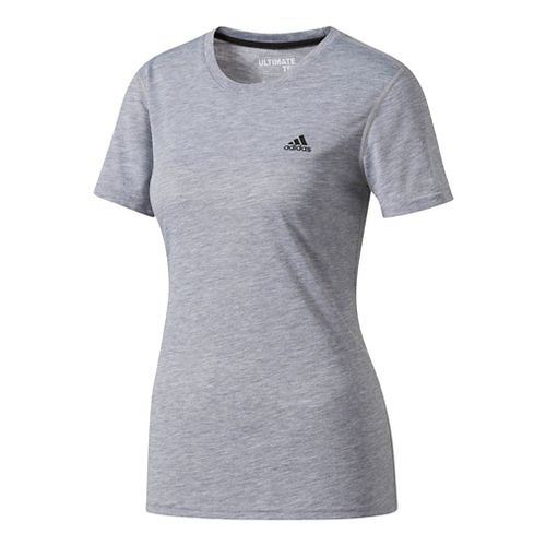 Womens adidas Ultimate Tee Short Sleeve Technical Tops - Grey M