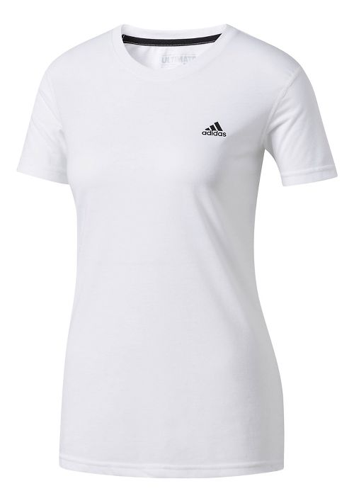 Womens adidas Ultimate Tee Short Sleeve Technical Tops - White L
