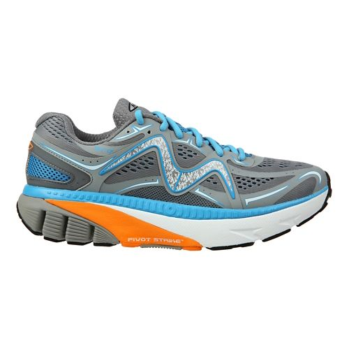 Mens MBT GT 17 Running Shoe - Grey/Blue/Orange 8