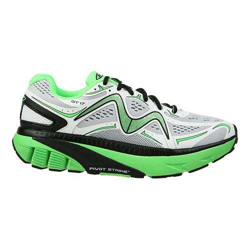 Mens MBT GT 17 Running Shoe - White/Green/Black 9.5