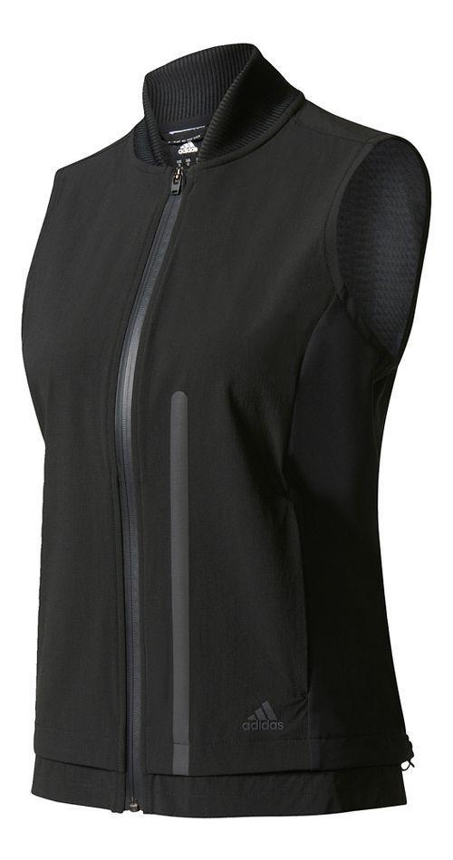 Womens Adidas Ultra Energy Vest Rain Jackets - Black M