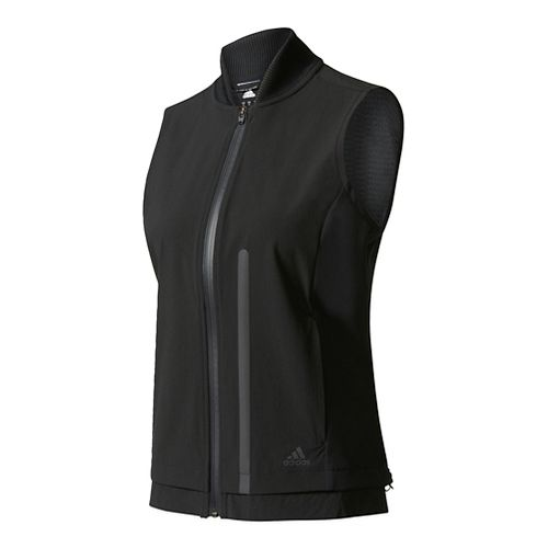 Womens Adidas Ultra Energy Vest Rain Jackets - Black S