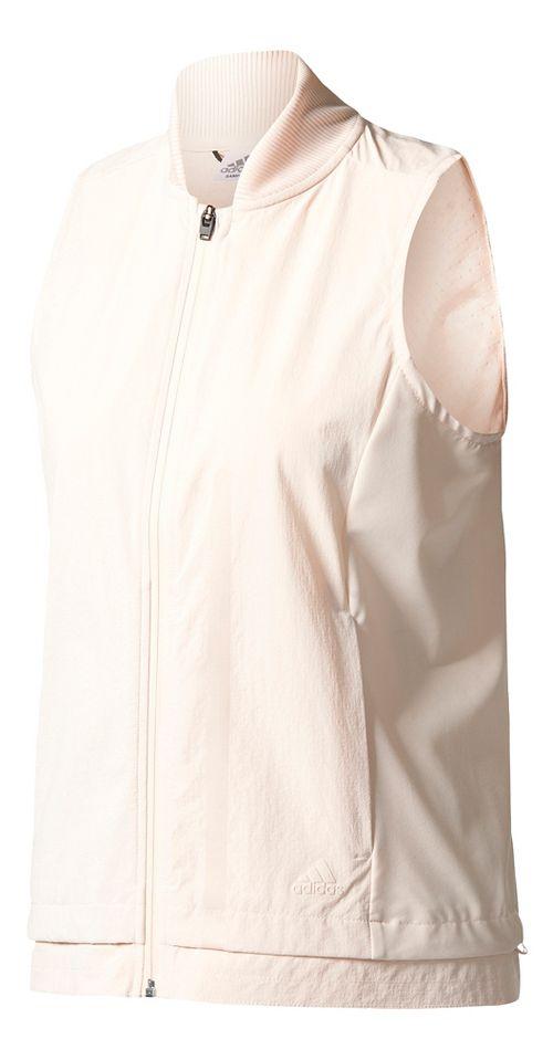 Womens adidas Ultra Energy Rain Jackets Vests - Linen M
