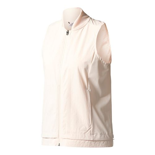 Womens Adidas Ultra Energy Vest Rain Jackets - Linen XL