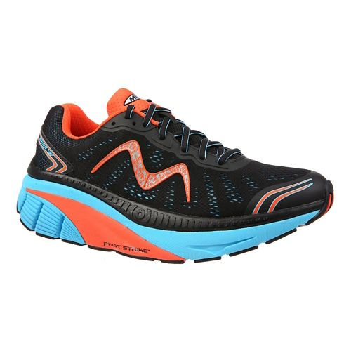 Mens MBT Zee 17 Running Shoe - Black/Blue/Red 8