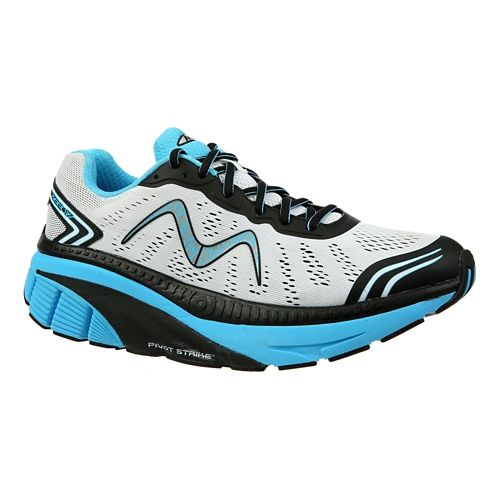 Mens MBT Zee 17 Running Shoe - White/Black/Blue 9.5