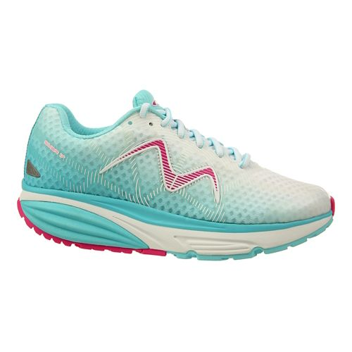 Womens MBT Simba 17 Walking Shoe - Cyan/White/Pink 11